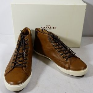 NWB Coach Saddle Brown Pete Soft Port Sneakers